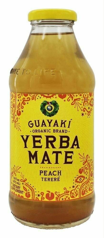 Guayaki Yerba Mate Peach Bottle 16oz