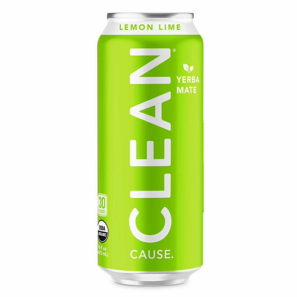 Clean Sparkling Lemon Lime Yerba Mate 16oz
