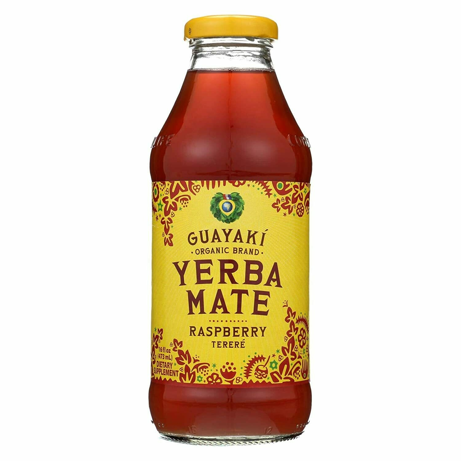 Guayaki Yerba Mate Raspberry Bottle 16oz