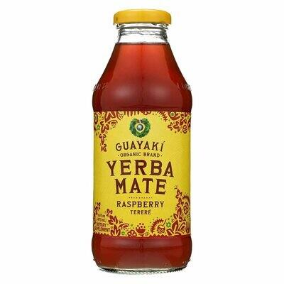 Guayaki Yerba Mate Raspberry Bottle 16oz