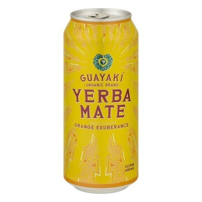 Guayaki Yerba Mate Orange Exuberance Can 16oz