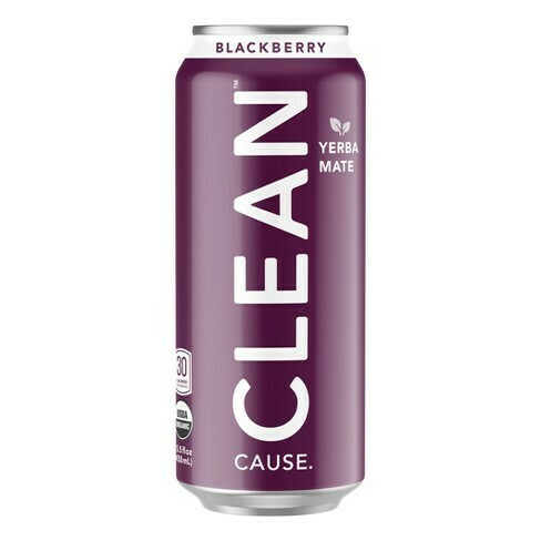 Clean Sparkling Blackberry Yerba Mate 16oz