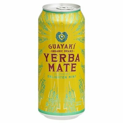 Guayaki Yerba Mate Enlighten Mint Can 16oz