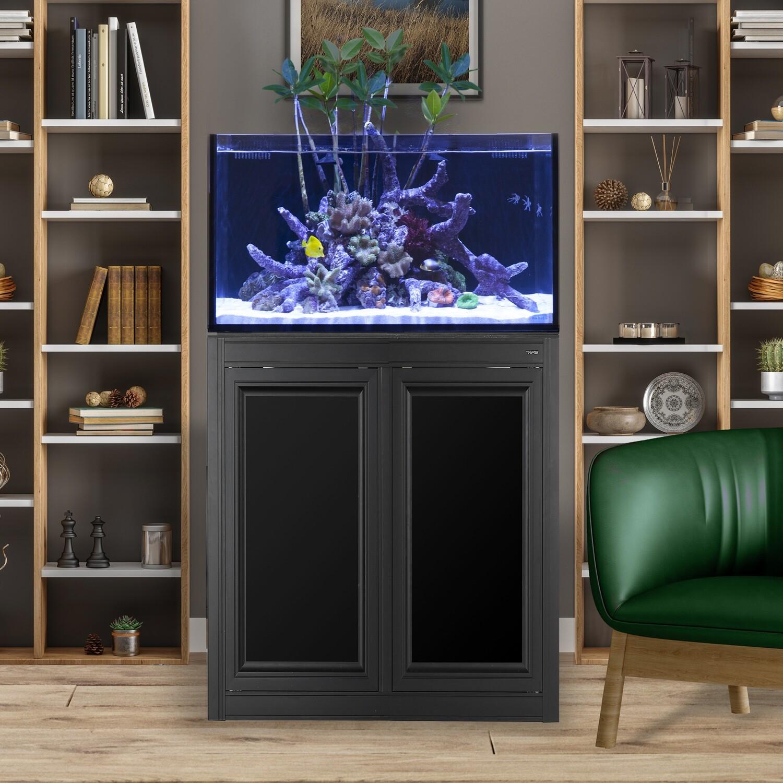 Fusion Pro 50 AIO Lagoon Aquarium w/ APS Stand - Black