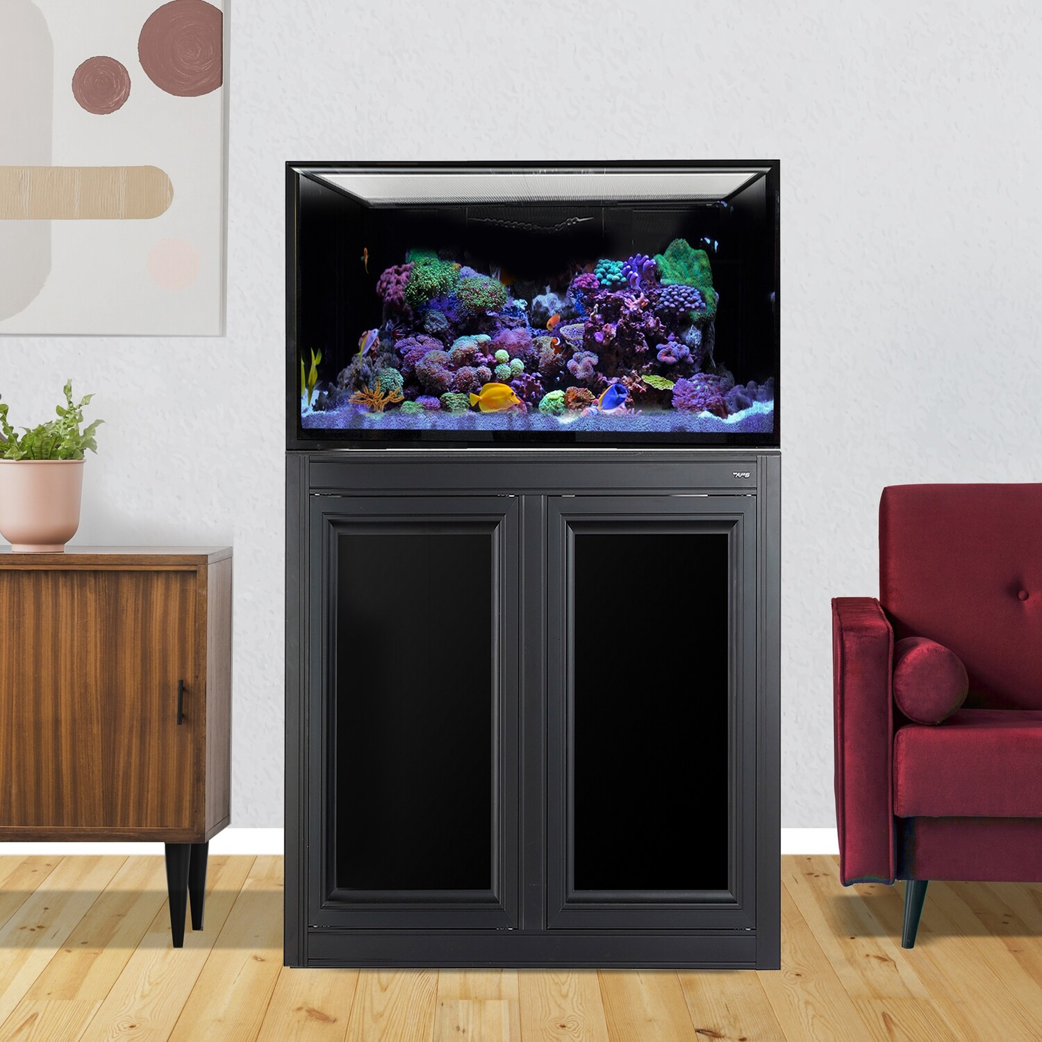 INT 112 Lagoon Aquarium w/ APS Stand - Black