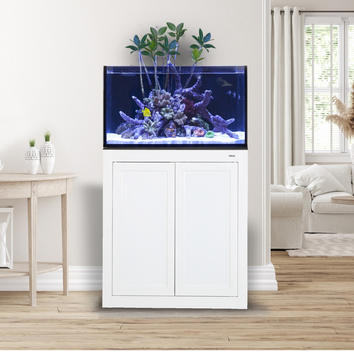EXT 50 Lagoon Aquarium w/ APS Stand - White