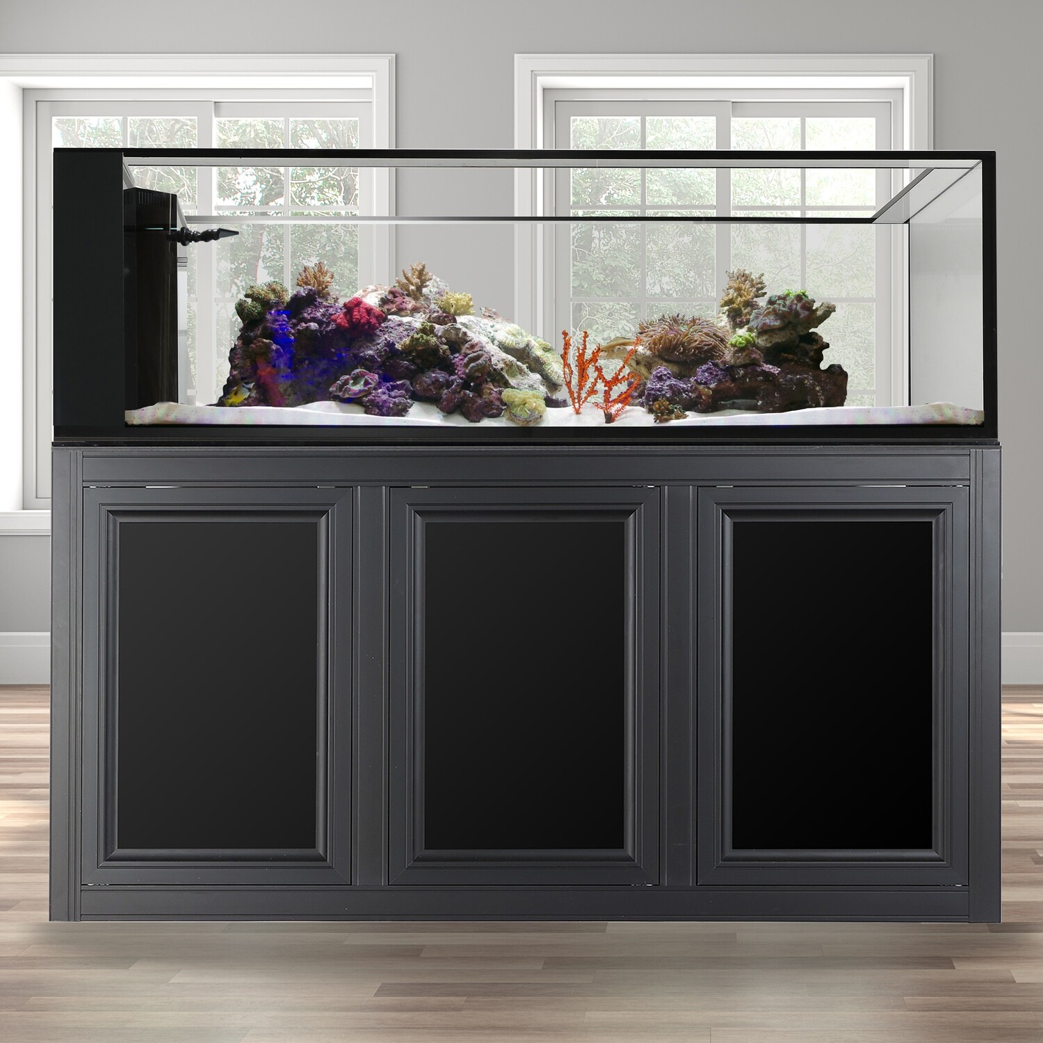 INT 200 Peninsula Aquarium w/APS Stand - Black
