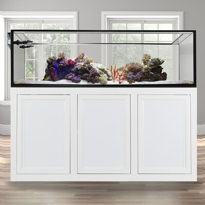 EXT 200 Peninsula Aquarium w/APS Stand - White