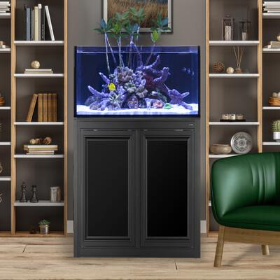INT 50 Lagoon Aquarium w/ APS Stand - Black