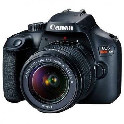 Cámara Canon T100 lente 18-55mm WiFi