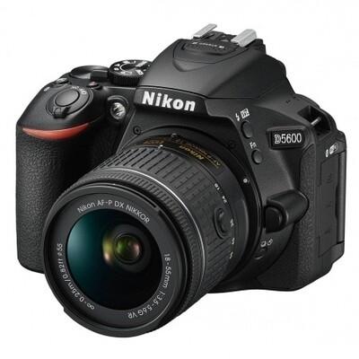 Cámara Nikon D5600, 24mp, lente 18-55, Wifi, reflex profesional