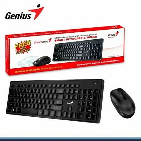 Combo Genius teclado y mouse wireless Model Slimstar 8006