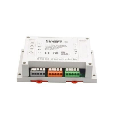 Sonoff Switch wifi 4 canales 220 vac 10a