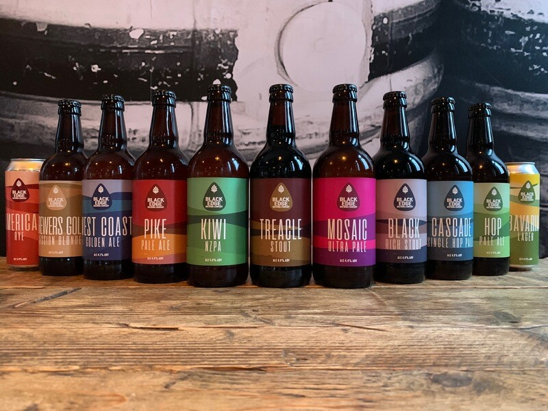 Blackedge Bottled Beers Mixed Case bottles & Cans X 12