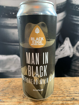 NEW BEER!! Man In Black 6.0% Gingerbread Milk Stout
