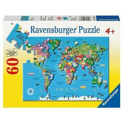 096077 World Map 60pc Puzzle