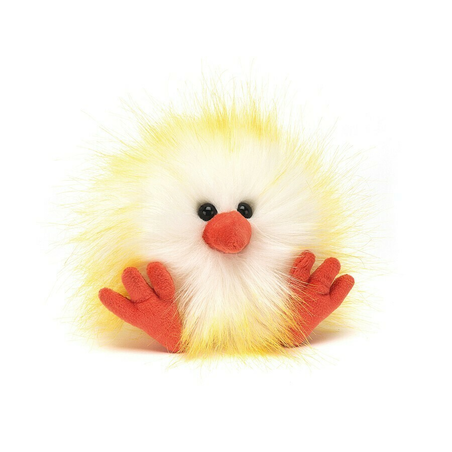 Jellycat Yellow White Crazy Chick Plush