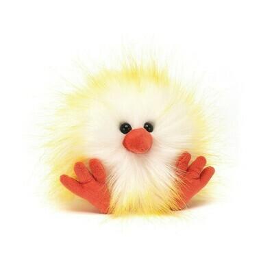 Jellycat Yellow White Crazy Chick Plush