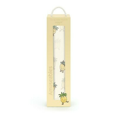 SALE: Amuseables Pineapple Muslin Swaddle - org. $22