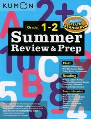 Kumon Summer Review & Prep: Grade 1-2 - PB