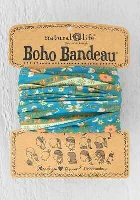 228 Blue Floral Medal Boho Bandeau