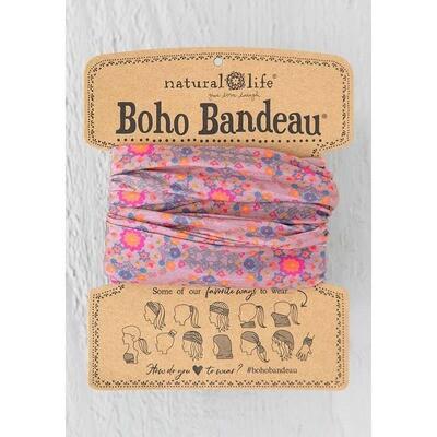 231 Pink Flower Stamp Boho Bandeau