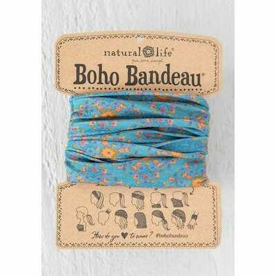 232 Blue Flower Stamp Boho Bandeau