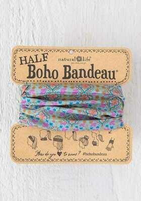 237 Turq Orange Stamp Half Boho Bandeau