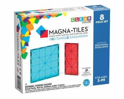 Magna-Tiles Rectangles - 8pc Expansion Pack
