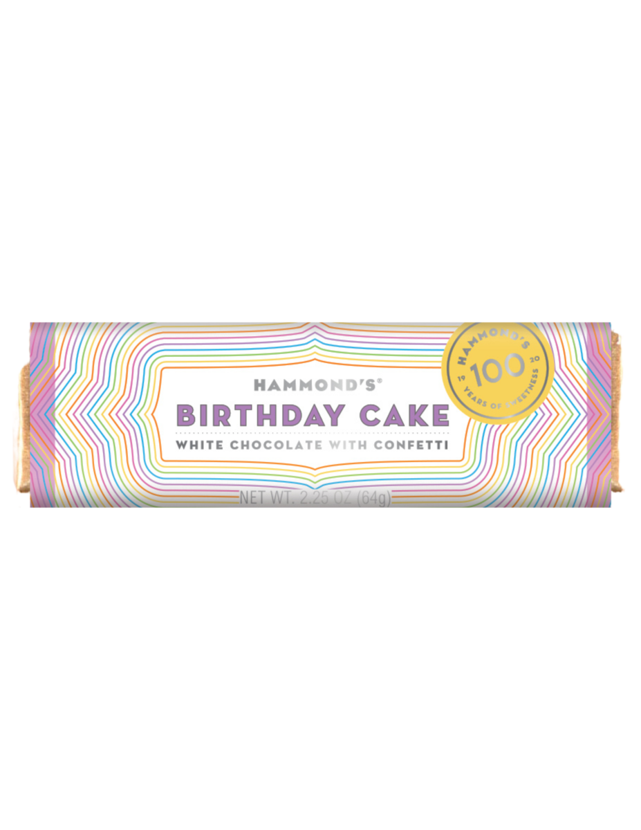 Birthday Cake White Chocolate Candy Bar - Hammonds