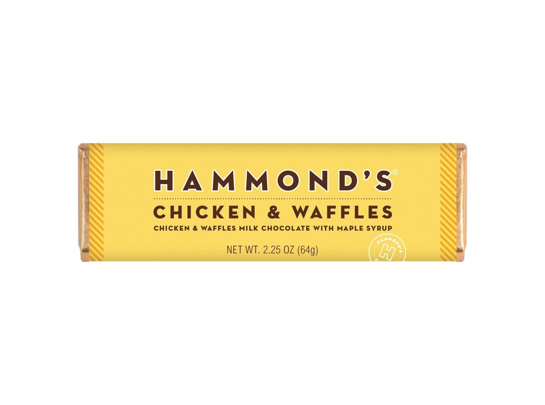 Chicken & Waffles Milk Chocolate Candy Bar - Hammonds