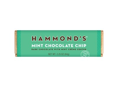 Mint Chocolate Chip Dark Chocolate Candy Bar - Hammonds