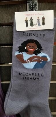 Maggie Stern Michelle Obama Grey Dignity Sock
