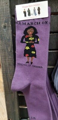 Maggie Stern Michelle Obama Purple Sock
