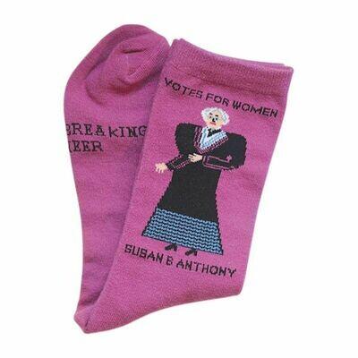 Maggie Stern Susan B Anthony Pink Sock
