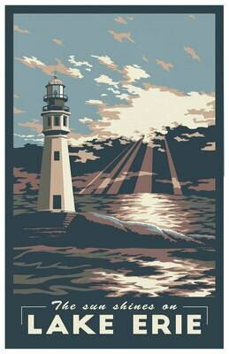 Lake Erie Travel Poster - 11x17""