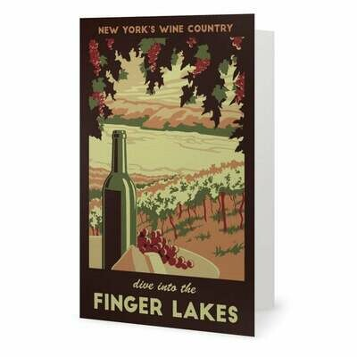 Finger Lakes NY Note Card