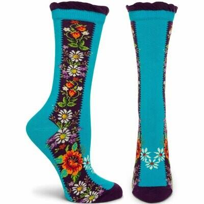 Folklore - Turquoise - Ozone Socks