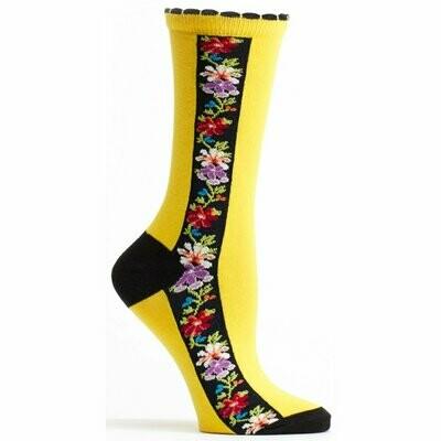 Nordic Stripe Sunflower Socks Ozone