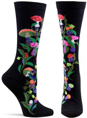 Amanita Muscaria Black Ozone Socks