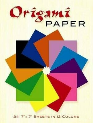 Origami Paper - 24 Sheets in 12 Colors
