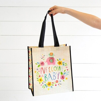 NL 100 Lrg Welcome Baby Recycled Gift Bag