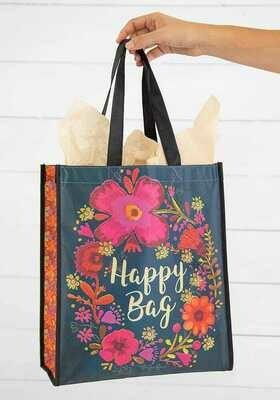NL 118Turq Magenta Cream Happy Bag XL Recycled Gift Bag