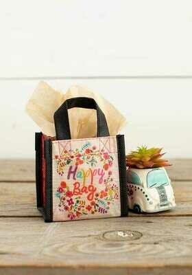 NL 128 Pink Floral Happy Bag XSm Recycled Gift Bag