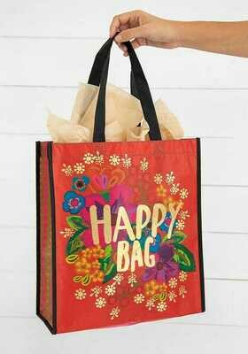 NL 126 Red Happy Bag XLrg Recycled Gift Bag
