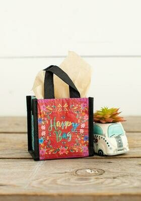NL 88 Red Happy Bag XSm Recycled Gift Bag