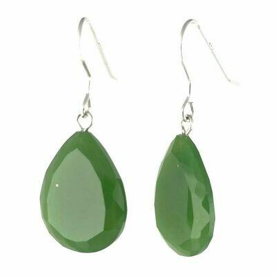 Jade Crystal Drop Earrings