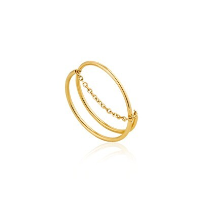 AH Modern Twist Chain Ring - Gold