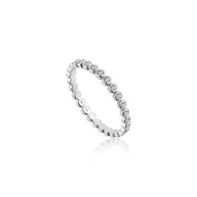 Ania Haie Shimmer Half Eternity Ring - Silver - Size 6