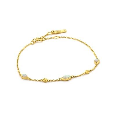 Ania Haie Opal Colour Bracelet - Gold